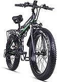 Sheng Milo Beach Bicicleta eléctrica 26 Pulgadas 1000W Crucero Todoterreno Carreras de...