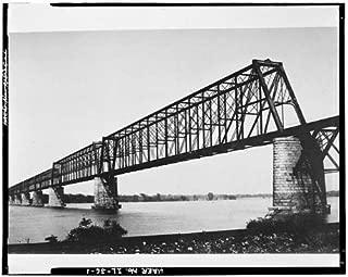 HistoricalFindings Photo: Cairo Bridge,Spanning Ohio River,Cairo,Alexander County,IL,Illinois,HABS
