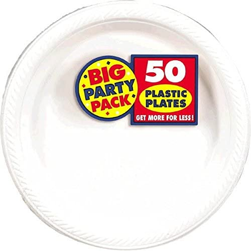 Big At the price of surprise Party Genuine Pack Frosty White Plastic 50 10.25