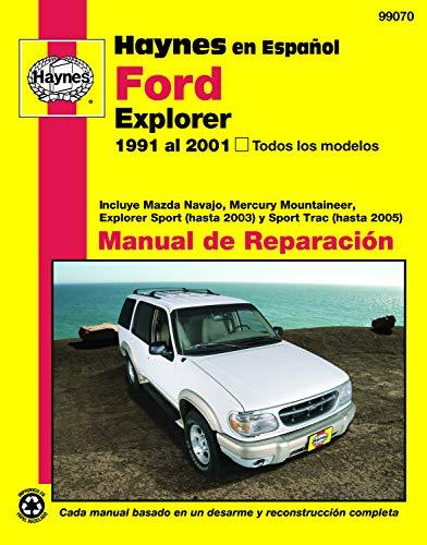 Haynes En Espanol Ford Explorer 1991 Al 2001, Todos Los Modelos: Incluye Mazda Navajo, Mercury…