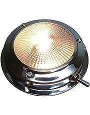 pactrade Marine barco lente luz acero inoxidable con franja de conmutación de cúpula de acento