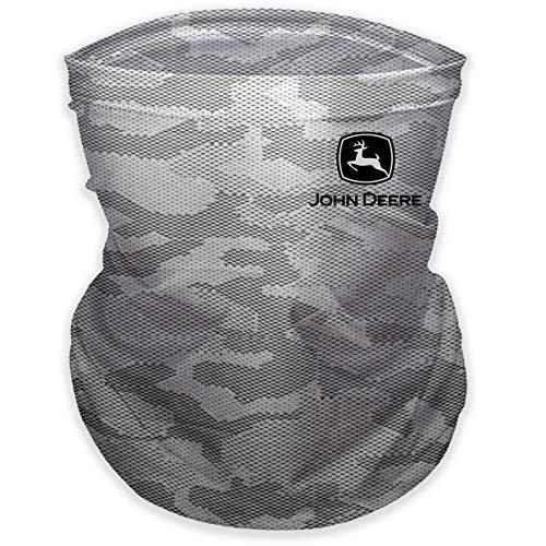 John Deere Gray Camo Neck Gaiter/Face Mask, One Size