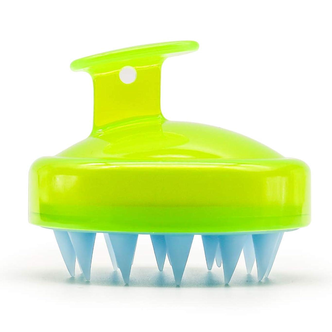 SILISCRUB - The Original Silicone Shampoo Brush(Green yellow)