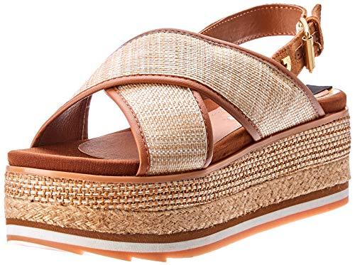 Gioseppo 47205, Sandalias con Plataforma para Mujer, Beige (Natural 000), 38 EU (Zapatos)