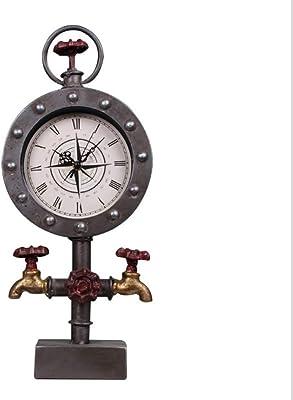 MAlex Clock Decoration Faucet tin Living Room Clock Crafts