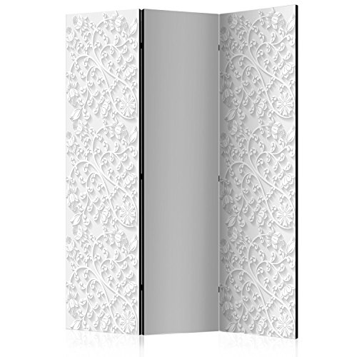 murando Raumteiler & Pinnwand Foto Paravent 3D Optik 135x172 cm beidseitig auf Vlies-Leinwand Bedruckt Trennwand Spanische Wand Sichtschutz Raumtrenner Home Office weiß a-B-0062-z-b