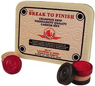Amber Professional Wooden Carrom Men (coins) Set - Break To Finish