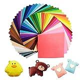UOUNE 60 Colori Feltro e Pannolenci Fogli DIY Tessuto Poliestere per Cucire Mestieri Stoffa di Cucito Bricolage Tessuto Patchwork 15cmX15cm