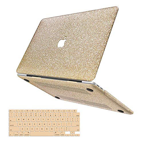 anban MacBook Air 13 Inch Case 2020 2019 2018 Release A2179/A1932, Glitter Bling Smooth Protective Laptop Shell Slim Snap On Case with Keyboard Cover Compatible for Mac Air 13 inch with Touch ID