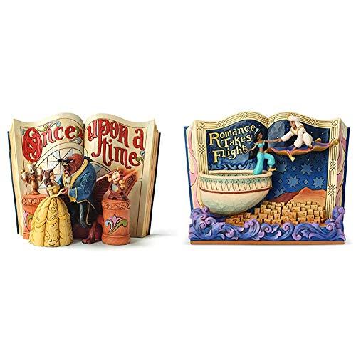"""Disney Tradition 4031483 Statuetta, Resina, Multicolore & Tradition - 6001270 - Storybook Aladdin """"Romance Takes Flight"""" Jim Shore's"""