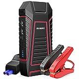 SUAOKI U7 Booster Batterie 600A 12000mAh, Jump Starter Démarreur Automatique 12000mAh pour Moteur à Essence 6L et Diesel 3L, Démarreur Saut 12V, Torche LED, 2 Ports USB et Type C