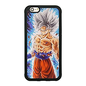 Dragon Ball Super Z Son Goku Ultra Instinct Japanese Anime Case for iPhone 6/6S  4.7 Inch  Comic TPU Silicone Rubber Gel Edge + PC Bumper Case Skin Protective Printed Phone Full Protection Cover