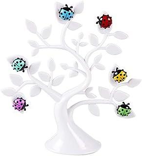 TOPBATHY 1PC Fridge Magnet Magnet Ladybug Message Clip Cute Ladybug Lucky Tree Sticker Cartoon Animal Fridge Magnets White...