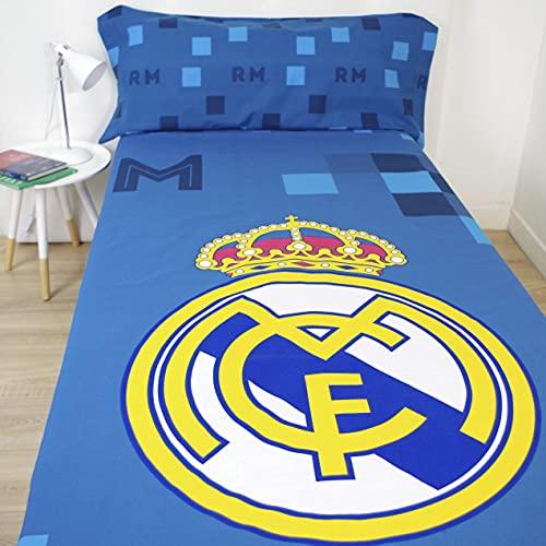 10XDIEZ Juego de sabanas Real Madrid 181040 | (Cama 90 cm - Estampado)