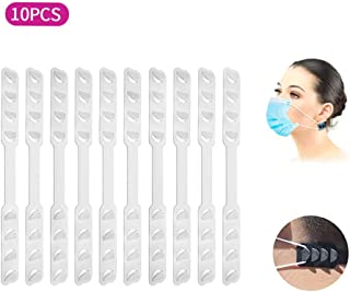 YOKFUN 10PCS Black Mask Extender, Anti-Tightening Ear Protector Decompression Holder Hook Ear Strap Accessories Ear Grips Extension Mask Buckle Ear Pain Relieved