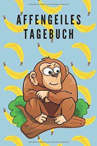 Affengeiles Tagebuch Reisetagebuch Notizbuch Affe auf dem Cover College Ruled Leniert  A5 100 Seiten, Vintage Softcover, Weißes Papier - Dickes ... Tagebuch für schöne Momente des Lebens
