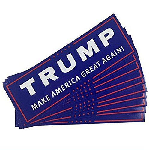 RONSHIN Auto Accessoire Trump maken Amerika weer geweldig 2016 Bumper Sticker 10 Pack