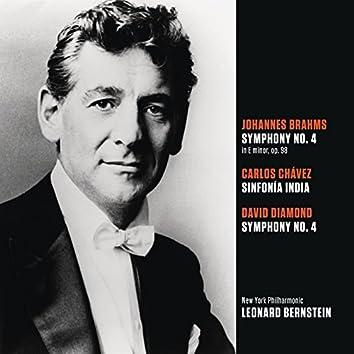 Brahms: Symphony No. 4 in E Minor - Chávez: Sinfonía India -  Diamond: Symphony No. 4