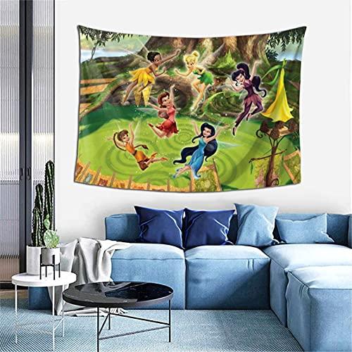 Disney Feen-Wandbehang, Überwurf, Decke, Hippie-Wandteppich, Dekoration, Bohemian-Bettdecke, Tagesdecke, Yoga, Meditation, 101,6 x 152,4 cm
