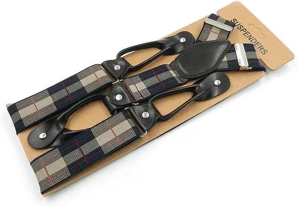 6 Clip Button Casual Men'S Suspenders Adult