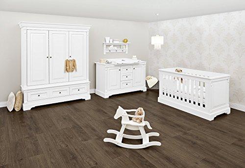 Pinolino 103467XG Kinderzimmer 'Emilia' extrabreit groß, weiß
