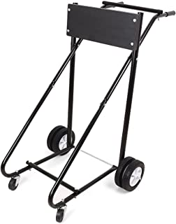 Beautylady 315lbs Outboard Motor Stand Heavy Duty Engine Stand Boat Motor Carrier Cart Dolly Storage Pro