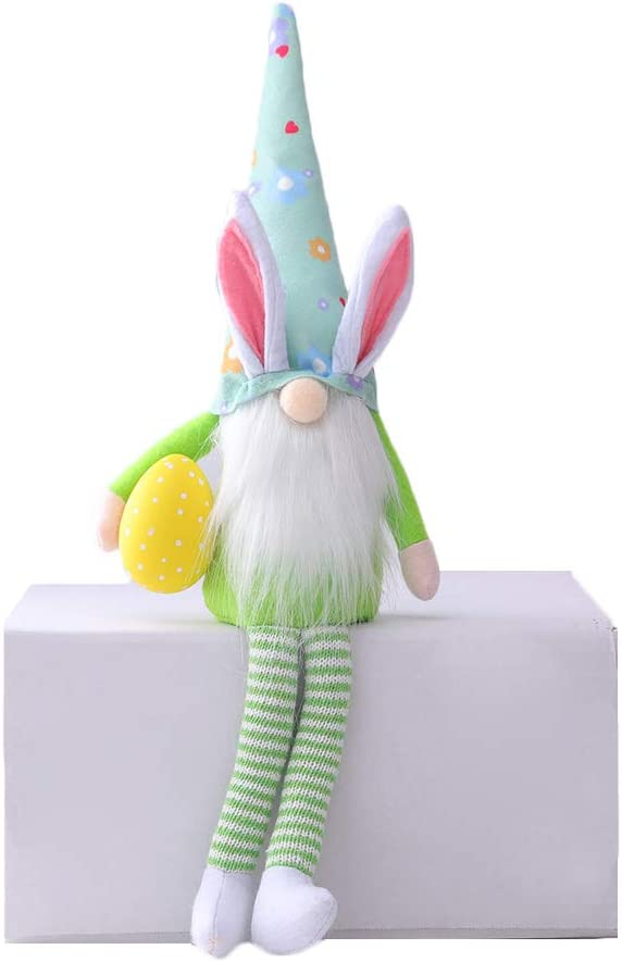 Easter Bunny Doll-Female, 1PCS Creative Handmade Cute Elf Holiday Table Ornaments Decorations Gifts for Kids//Women//Men Gnome Faceless Plush Doll