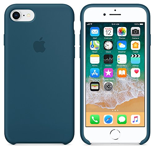 2018 estate ultima custodia in silicone per iPhone 7/8 (iPhone 7/8, Blu Cosmo)