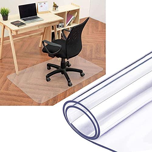 Yibcn Alfombrilla de PVC para silla, rectangular, para oficina y hogar, multiusos, protector para silla de piso duro, transparente