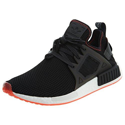 adidas Originals Men's NMD_XR1 Running Shoe, Black/Solar Red, 9 M US