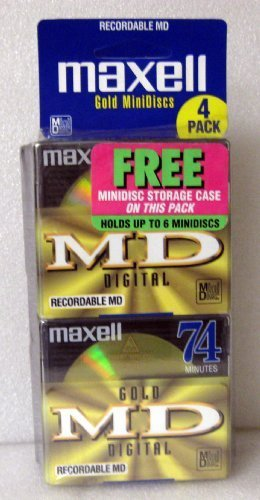 MAXELL MD74 Mini Disc 4 Pack (Discontinued by Manufacturer)