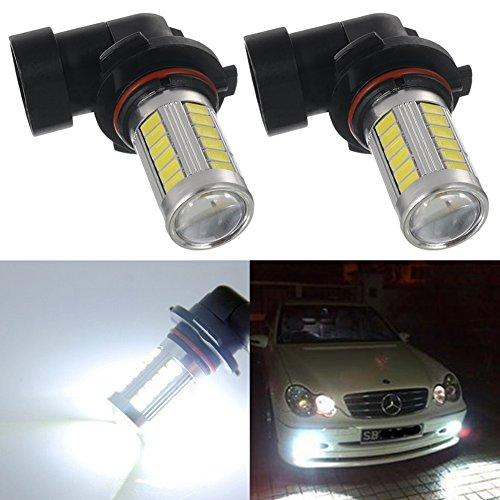 TABEN Lot de 2 ampoules LED haute puissance 5730 33-SMD extrêmement lumineuses 6500 K Blanc 9006 HB4 12 V
