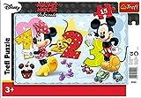 TREFL–Minnie Mouse Puzzle con Marco 15Piezas, 31241u