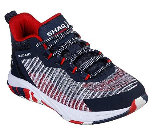 Skechers boys Shaq Durafusion Sneaker, Navy/Red, 12 Little Kid US