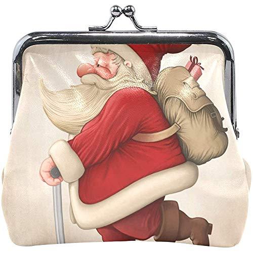 Santa Claus en The Push Scooter portemonnee kleine portemonnee veranderen