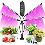 WOLEZEK Led Pflanzenlampe, Pflanzenlicht,80LEDs Pflanzenleuchte Rot & Blau Vollspektrum Wachsenlicht für Zimmerpflanzen mit Zeitschaltuhr, 3 Arten von Modus & 10 Lichtstärken für Gemüse