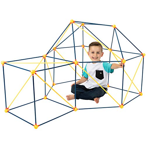 ToyVelt Fort Building Kits for Kids - 90-Piece Children's Crazy DIY Fort Builder kit Building Toys Set for Indoor and Outdoor Forts - Creative Fort Making Kit for Boys and Girls Ages 8 -12 Years Old