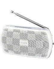 ソニー ポータブルラジオ SRF-19 : ワイドFM対応 FM/AM ホワイト SRF-19 W