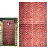 Platform 9 and 3/4 King's Cross Station, Curtains Door, Red Brick Wall Party Backdrop, Secret Passage to The Magic School, Platform Party Supplies Halloween Decoration 78.7'x 49.2' Inch