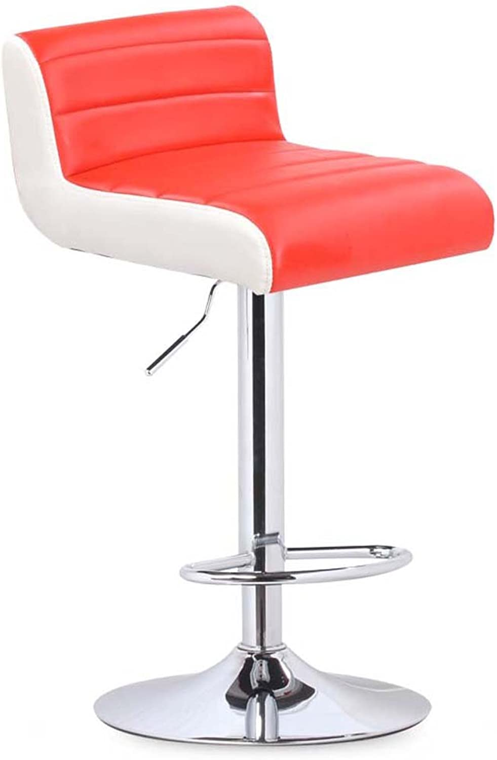 GSHWJS Bar Chair Chair Lift redating Bar Chair backrest Stool Put The Stool (color   Red)