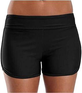 N-B S-5XL Bañador Natación Pantalones Cortos Mujer Verano Bragas Shorts de Baño Deporte Acuáticos Tallas Grande Cintura Al...