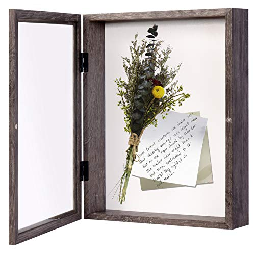 EDGEWOOD Front Opening Shadow Box Display Frame Case for Memorabilia, Pins, Awards, Medals, Tickets...