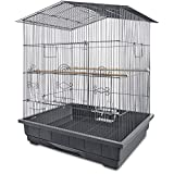 Open air perch for exercise & interaction Individual feeding doors and large front door with secure bird-safe latches Pull out tray and removable grate for convenient cleaning Recommended for small parrots or cockatiels