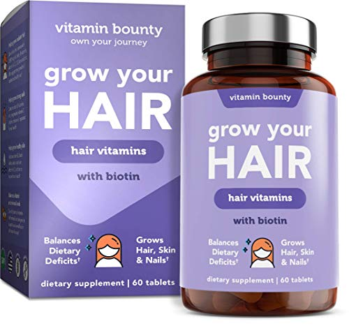 Grow Your Hair - Hair Regrowth, Healthy Skin and Stronger Nails Vitamins for Hair Growth - Vitamin Bounty