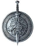 California Costumes Men's Wolf Master Shield & Sword, Silver/Black, One Size