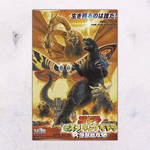 28x43cm Godzilla, Mothra and King Ghidorah: Giant Monsters All-Out Attack Poster-Room Decoration-Cafe Bar-Home Decoration Theme, 11x17inches