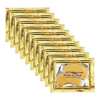 Permotary 30 Pairs 24K Gold Gel Collagen Eye Pads,Crystal Collagen Under Eye Mask for Moisturizing,Reducing Fine Lines&Dark Circles& Puffy Eyes Under Eye Patch for Women Men Gold