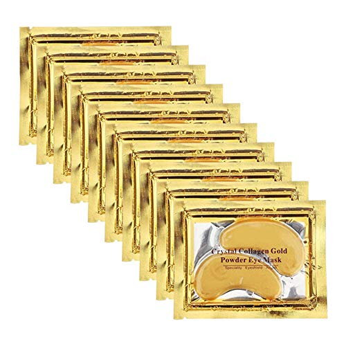 Permotary 30 Pairs 24K Gold Gel Collagen Eye Pads,Crystal Collagen Under Eye Mask for Moisturizing,Reducing Fine Lines&Dark Circles& Puffy Eyes Under Eye Patch for Women Men, Gold