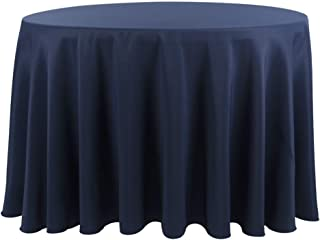 132 round tablecloth navy blue