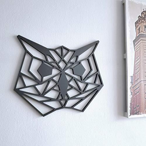 Fotodekora Cabeza de Buho Escultura de Lineas Negras para Colgar en Pared   Diseño geométrico   Arte de Pared   Animales Origami